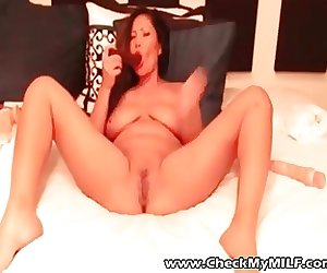 Check My MILF Asian wife stuffing her ass and pussy with toy