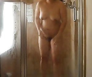 Wife in Shower Big Tits Thighs and Ass