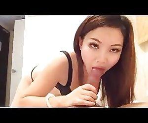 Japanese girl great blowjob