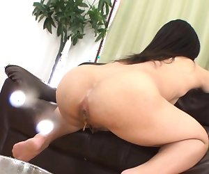 Pretty asian charms with oral-service before rough anal fuck