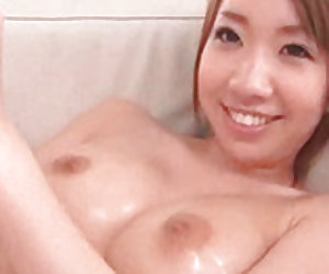 Lovely Japanese  needs two tough schlongs to excite her