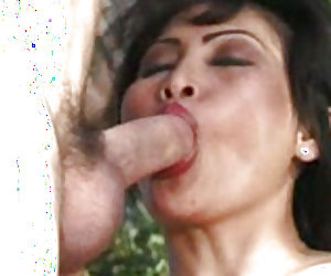 Rosy analed in an outdoor fun