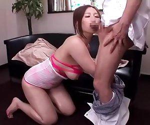 Hottest Japanese chick Ai Sayama in Amazing Massage, Doggy Style JAV movie