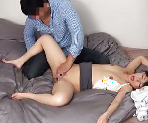 Sexy babe bends over as a huge cock slides in her wet cunt