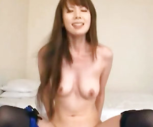 Sexy model Yui Hatano in stockings deepthroats and bangs